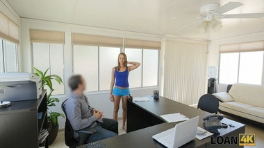 LOAN4K. Perfect teen owned by agent because needs money