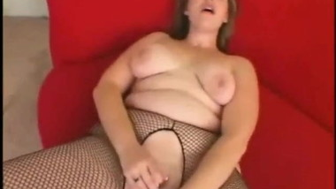 Fat Chubby is crazy for masturbation with her black dildo