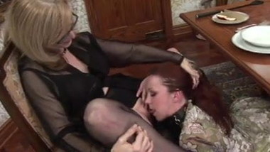 Lesbian Mistress and slaves