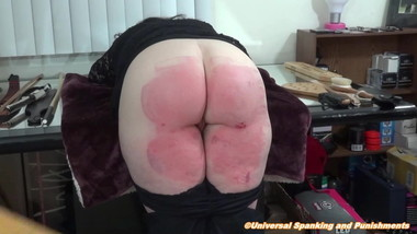 Round Ass Paddled Hard!