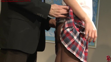 Naughty Schoolgirl and her Professor.Movie advertisement.