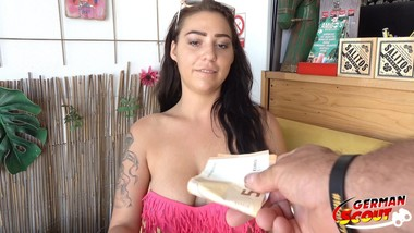 GERMAN SCOUT - HANGING TITS TEEN TALK TO CASTING AT VACATION