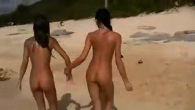 Lesbian Teens Having fun at the Beach
