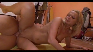Blonde Teen Sucks And Fucks